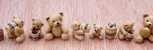 Tiny Honey Bears by Hippopottermiss