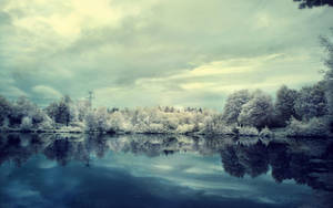 winter lake wallpaper by fluentwater