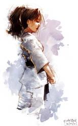 Karate Girl 003 by Pierrick
