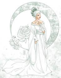 Bride in Kimono - Duotone by dubird