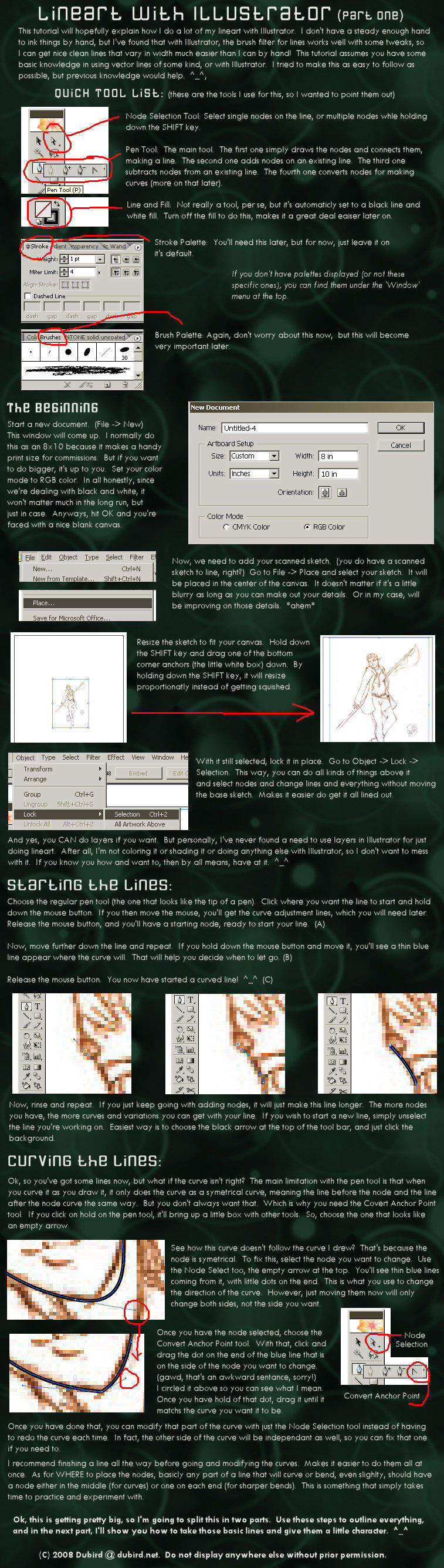 Illustrator Lineart Tut PT1 by dubird