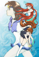 Three Otaku Senshi by dubird