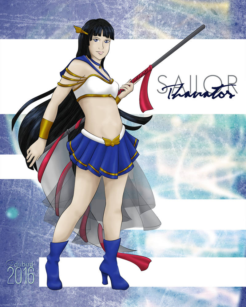 Secret Senshi - Sailor Thanatos by dubird
