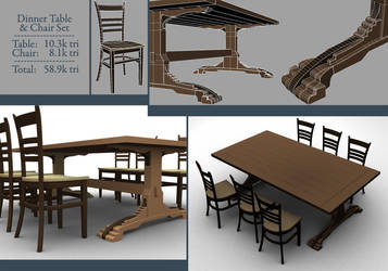 Table and Chair Set by smudgedcat