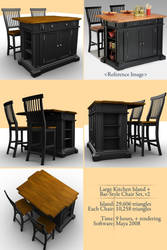 Kitchen Island and Chair Set 2 by smudgedcat