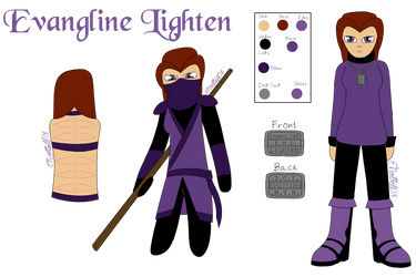 Evangline Lighten (Ref Sheet) by E-Nuttall