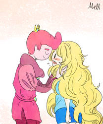 Prince Gumball and Fionna by memmemn