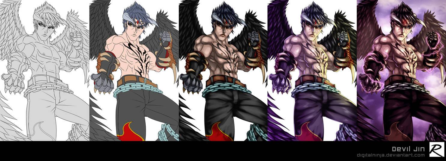 Tutorial - Color Process - Devil Jin by digitalninja
