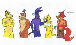 Meet the FNaF-Crew by Zedrapazia