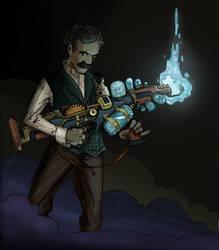 Nikola Tesla by pushxtonotdie
