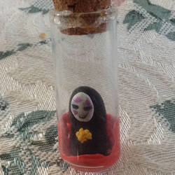 My mini No-Face in a vile by SonicSailorKeyblade