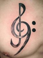 treble bass clef by NelsonMandingo