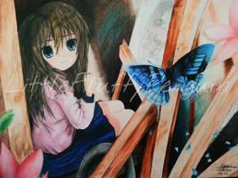 Blue Butterfly by LittleFluffyPenguin