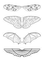 Wings Vector Set by docdavis