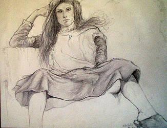 Sketchbook, life drawing IX by docdavis