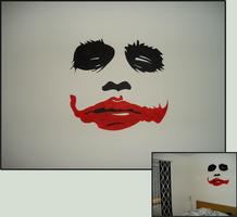 The Joker Wallpainting by coroners
