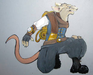 rat painting by invaderjen