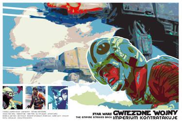 STAR WARS - The Empire Strikes Back - poster by P-Lukaszewski
