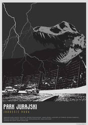 Jurassic Park - movie poster by P-Lukaszewski