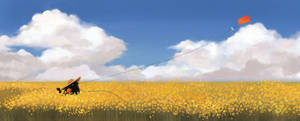 Blackbird in Golden Fields by TeaCi