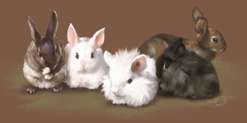 Bunnies! by TeaCi