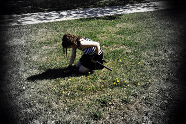 Collecting Dandelions by Mreeb