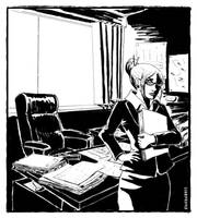 At the office by Eleithel