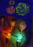 Festival des lumieres by Eleithel