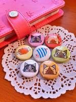 Monster Hunter Buttons by koloromuj