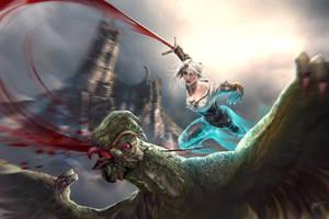 The Witcher : Wild Hunt Ciri by koloromuj