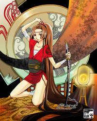 Samurai girl - light of hope by koloromuj