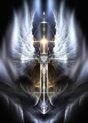 Heavenly Angel Wings Cross by xzendor7