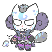 (CLOSED) RARE Cheshire Cat Onisheep AUCTION by royalraptors