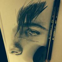 Sketching...Daimon by Sami06