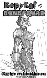 KopyKat And The BombSquad cover pencils by coreytaylor-art