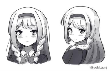 [Sketch] Rinka by Aekku