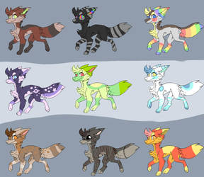 adoptables (OPEN) 5/9 20 points each by Shadowflare770