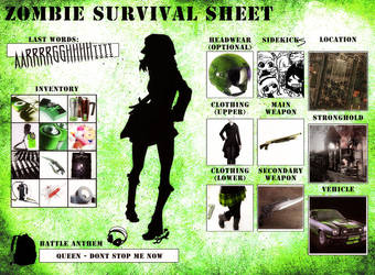 Meme - Zombie Survival Sheet by Sayael