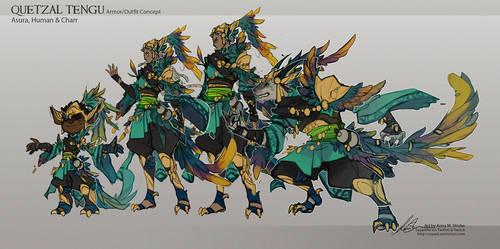 GuildWars2 - TenguArmor Design by Sayael