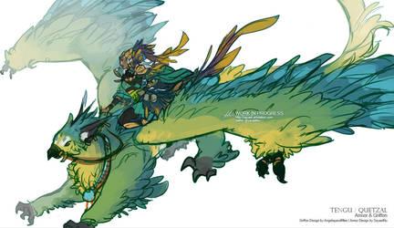 GuildWars2 - Tengu Gryphon Rider by Sayael