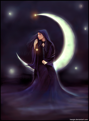Earlinde of the Moon by hengie