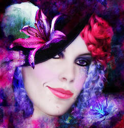 Mardi gras candy girl by sympathy4thedevil23