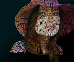 Olivia Wilde Typographic Portrait by Automaticize