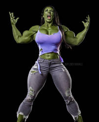She Hulk 2 (Ginger Kutschbach) by RICKTOR31