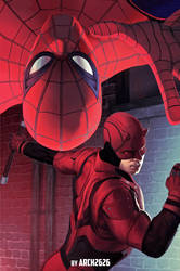 Spider-man and Daredevil TeamUp MCU by Arch2626