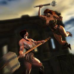Ophelia vs Nessa by Foulfiends