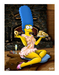 Marge in a Nightie by mysticalpha