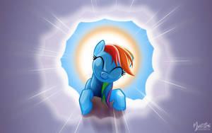Rainbow Dash on a Cloud 06 by mysticalpha