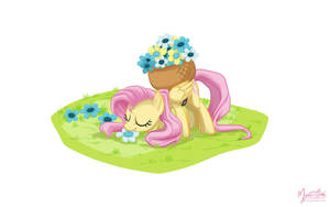 Fluttershy - Flower Picking by mysticalpha