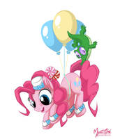 Pinkie Pie and Gummy in the Sky by mysticalpha